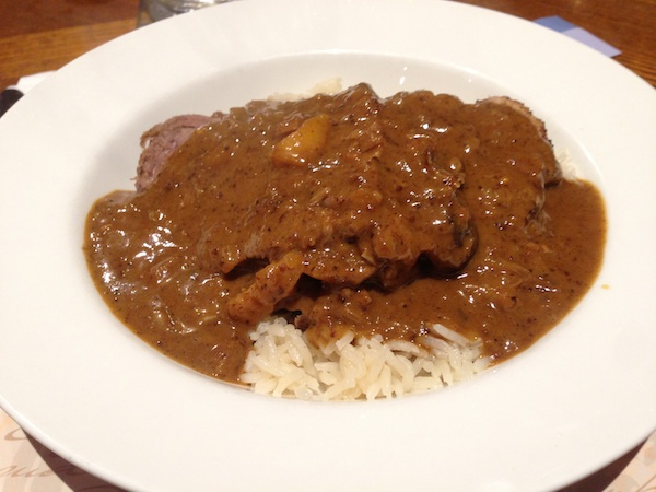 Sri Lankan Pot Roast with Curry sauce and Ghee Rice