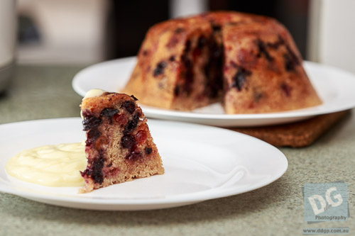 Summer Berry Steamed Pudding